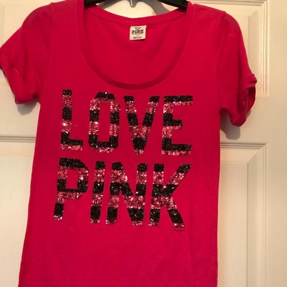 7a15c58729c87 Pink Victoria Secret Ladies T Shirt